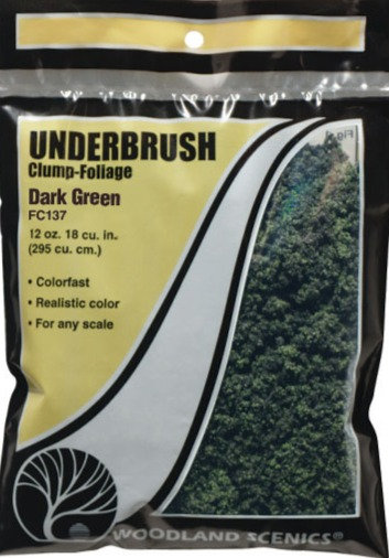 Woodland Scenics FC137, Underbrush (maleza) verde oscuro