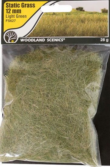 Woodland Scenics FS627, Pasto estático 12 mm, verde oscuro
