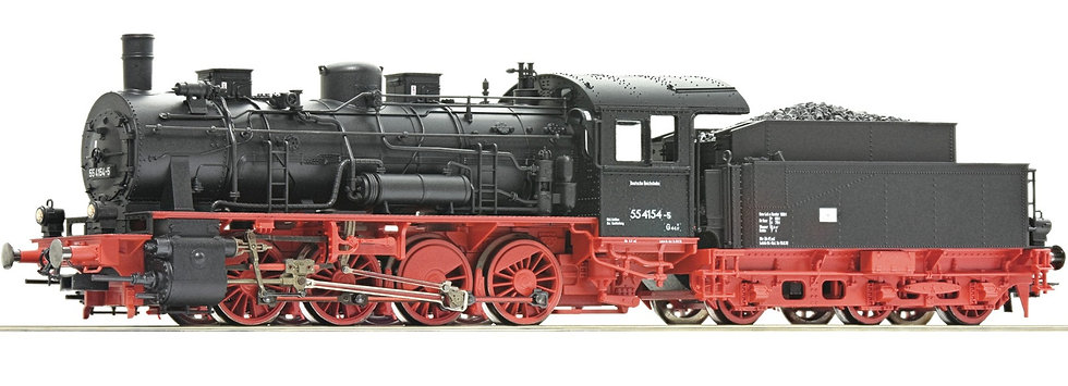 Roco 72046, Locomotora de vapor serie 55, DR, época IV