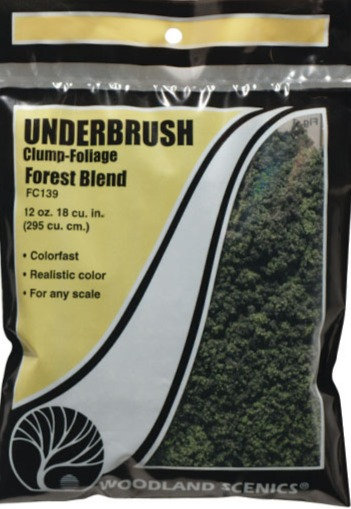 Woodland Scenics FC139, Underbrush (maleza) mezcla de bosque