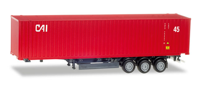 "Herpa 076791, container semitrailer ""CAI"""