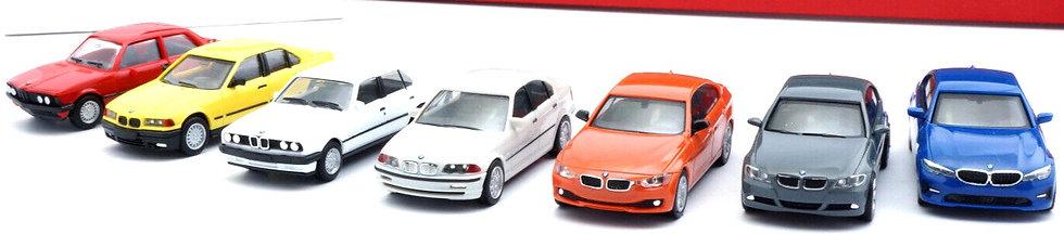 """Herpa 76760, Conjunto de 7 vehículos""""7 generaciones del BMW Serie3"""""""