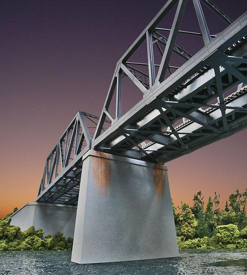 Walthers 4552, Pilares de concreto para puente de 2 vías (2 unidades)