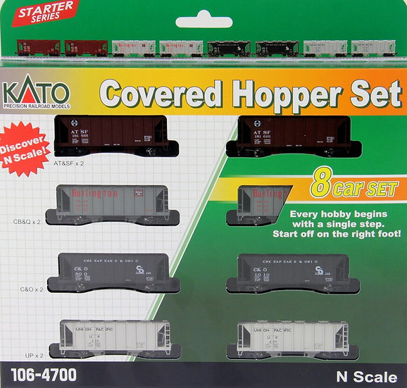 Kato 1064700, Set de 8 carros ACF Covered Hopper