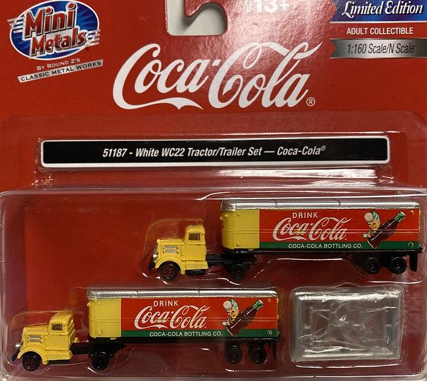 Classic Metal Works, Pack de 2 camiones con trailer Coca Cola
