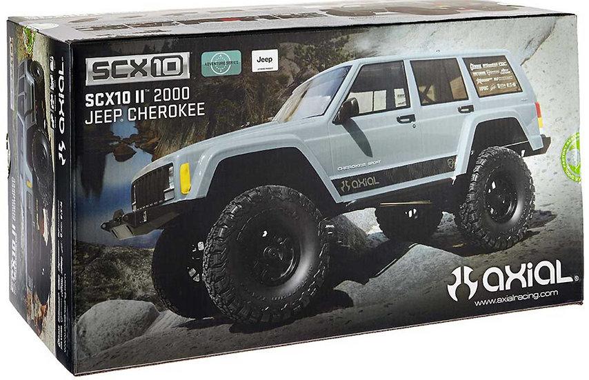 AXID9047, 1/10 SCX10 II Jeep Cherokee 4WD Rock Crawler Brushed RTR