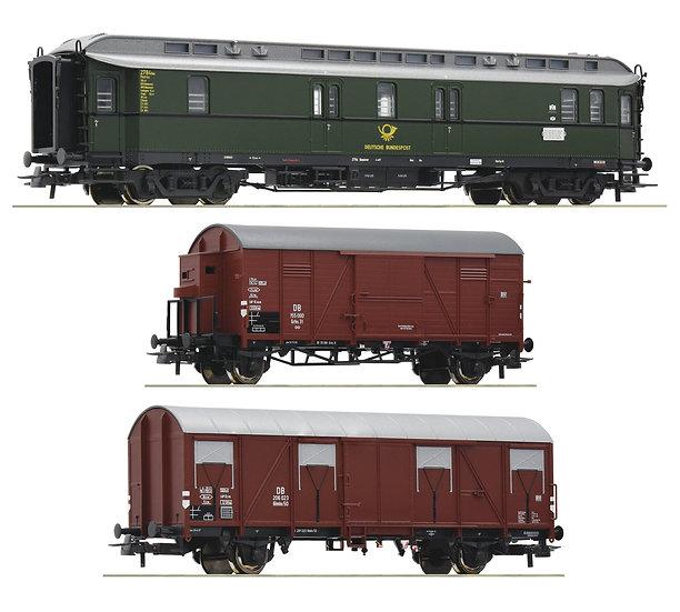 "Roco 74091. Set de 3 piezas: ""Tren postal"", DB, época III"