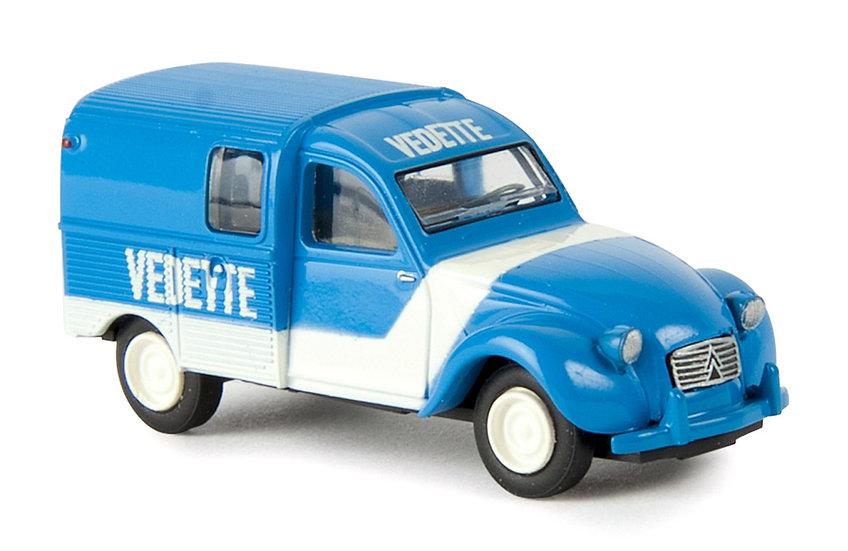 Brekina 14168, Citroen 2CV azul Vedette