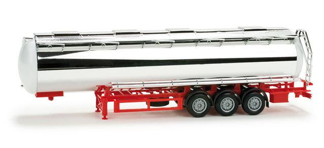 Herpa 076180,   foodtank trailer cromo.