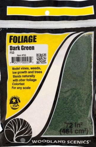 Woodland Scenics F53, Follaje verde oscuro
