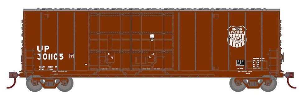 Athearn RND88095, 50' High Cube DD Plug Box, UP/Overland #301124