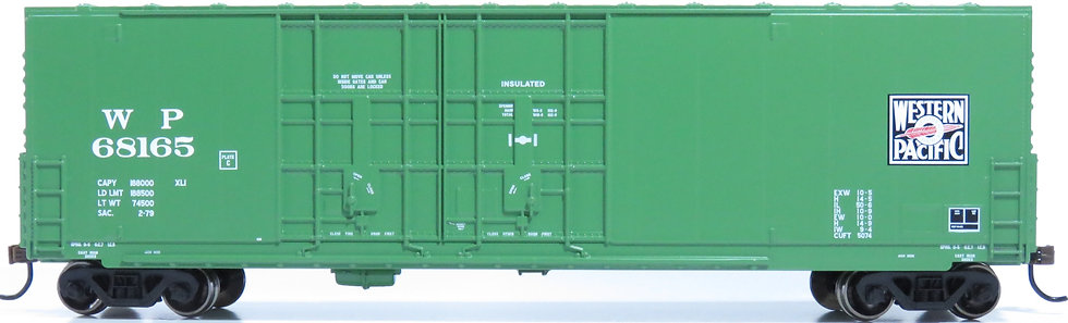 Athearn RND88147, 50' High Cube Dbl Door Plug Box,WP/Green #68165