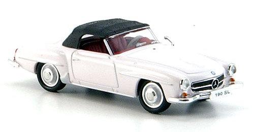 Brekina  rik38693, Mercedes 190 SL (W121 BII), blanco