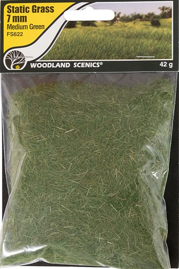 Woodland Scenics FS622, Pasto estático 7 mm, verde medio