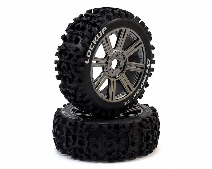 Duratrax DTXC3617, 1:8 ruedas Lock Up buggy cromo
