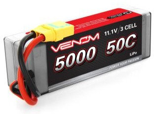 Venom VNR15188, 11.1V 5000mAh 3S 50C DRIVE Hardcase LiPo Battery: XT90-S