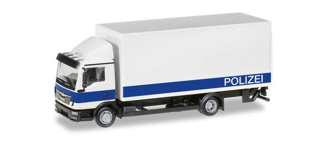 "Herpa 94504, MAN TGL con montacarga ""Brandenburg Police Department"""