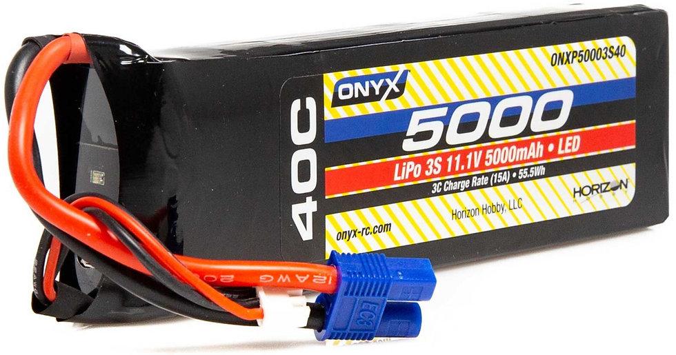 ONXP50003S40, 11,1V 5000mAh 3S 40C LiPo Battery: EC3