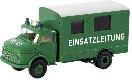 BREKINA 94725, Mercedes L 322 Koffer, Einsatzleitung, Polizei