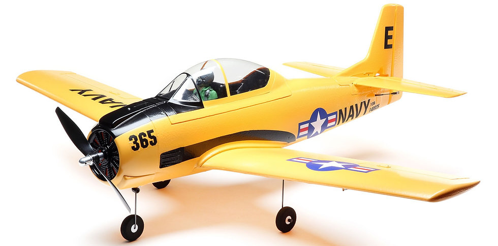 EFL08250, T-28 Trojan 1.1m BNF Basic with AS3X and SAFE Select
