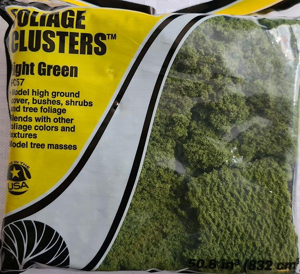"Woodland Scenics FC57, follaje tipo ""clusters"" verde claro"