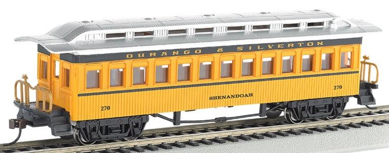 Bachmann Silver 13408, Coche de pasajeros DURANGO & SILVERTON, época 1860-1880