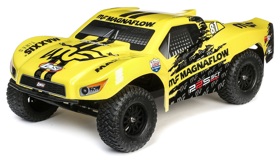 LOSI 03022T1, 1/10 22S 2WD SCT Brushed RTR, MagnaFlow, amarillo