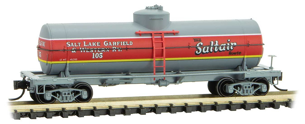 Micro Trains Line 6500046, Carro cisterna  39' Salt Lake, Garfield & Western 105