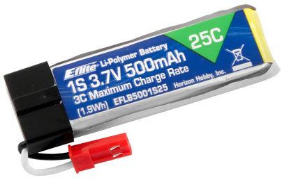 EFLB5001S25, 3,7V 500mAh  1S 25C LiPo