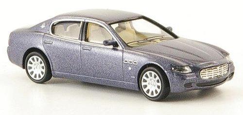 Brekina Rik38306, Maserati Quattroporte,  2003 azul