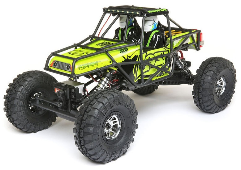 LOSI 03015T2, 1/10 Night Crawler SE 4WD Rock Crawler Brushed RTR, verde