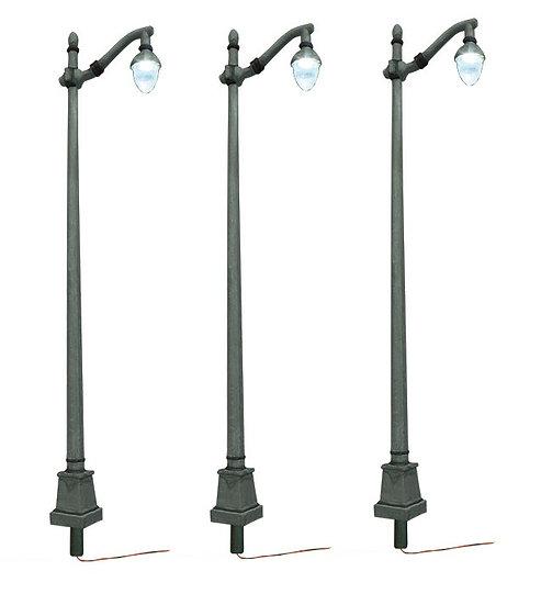 Woodland Scenics JP5631, Pack de 3 iluminarias de calle mástil de acero