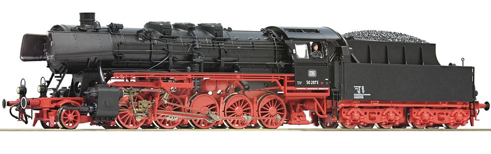 ROCO 78256. Locomotora a vapor BR 50, DB, época III [CON SONIDO]
