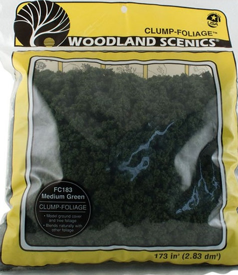 Woodland Scenics FC183, Clump-folliage color verde medio