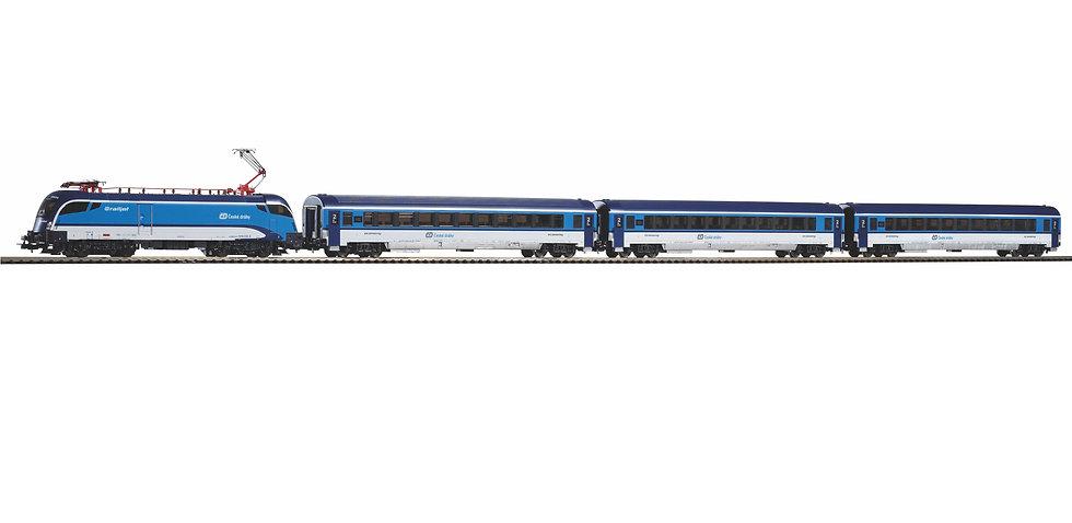 Piko 57179. Set de inico DC tren Railjet CD República Checa, época VI