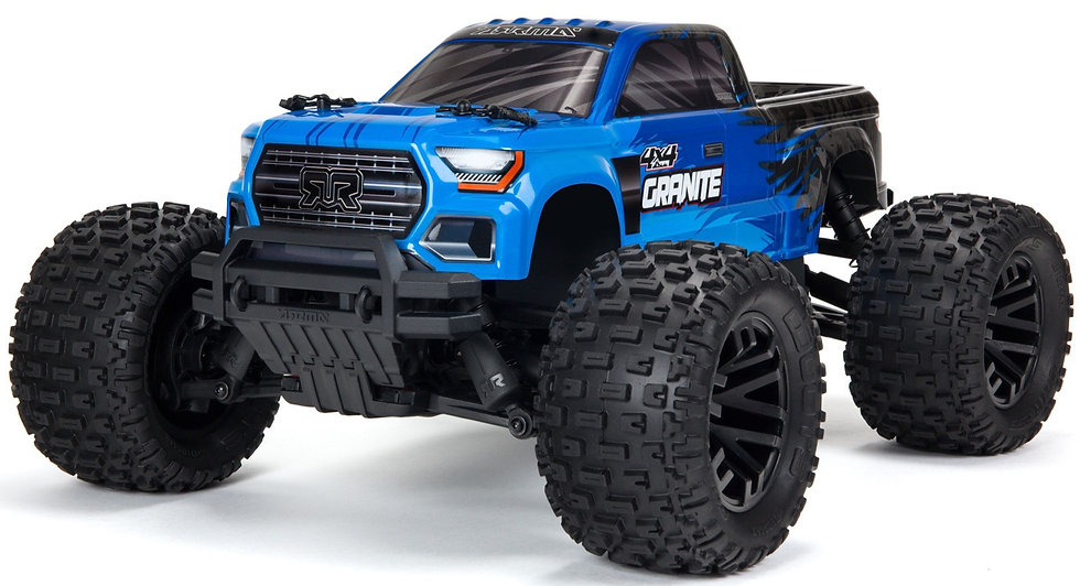 ARA4202V3T1, 1/10 GRANITE 4X4 V3 MEGA 550 Brushed Monster Truck RTR, azul