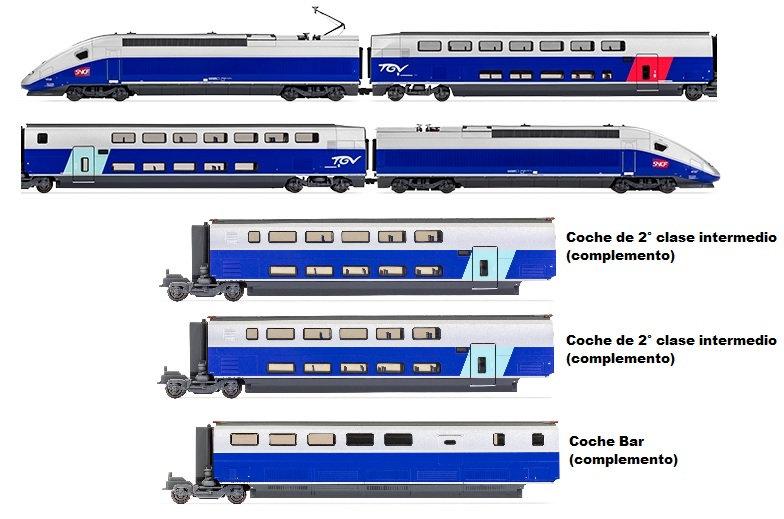 Pack TGV HJ2362ACS + 2x HJ3004 + HJ3005 / AC con SONIDO