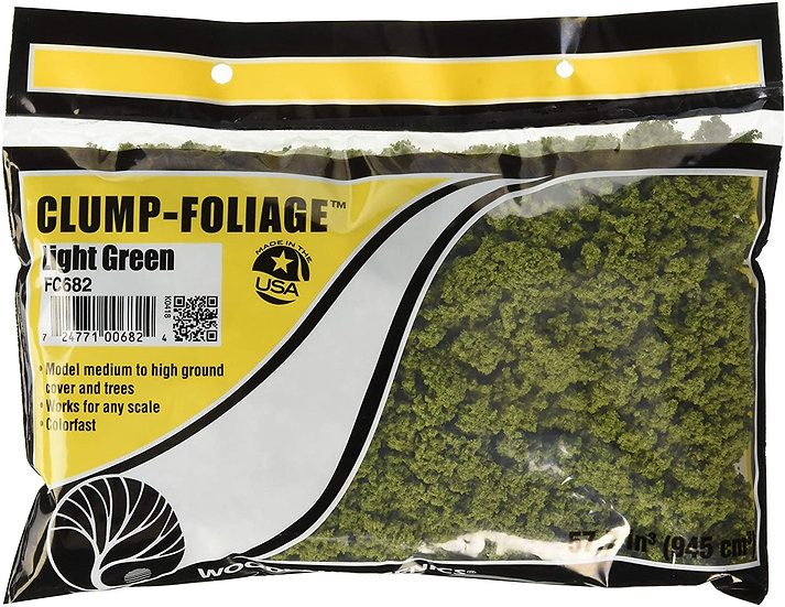 Woodland Scenics FC682, Clump-Foliage verde claro