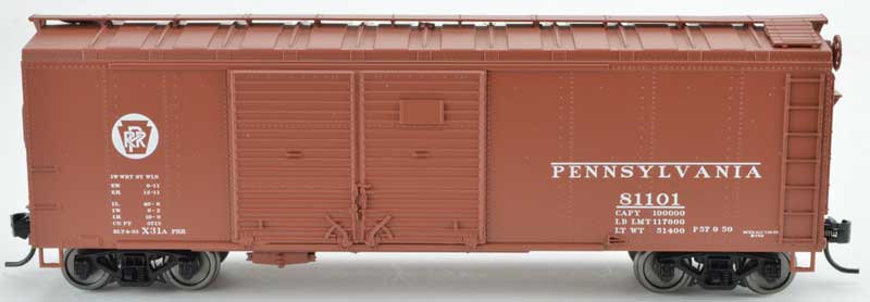 Bowser 42337, Boxcar PRR Circle Keystone Double Door ins