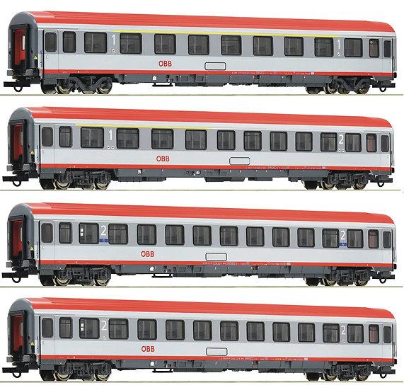 Roco 74344/5/6/7, Conjunto 4 coches Eurofima, ÖBB, época VI