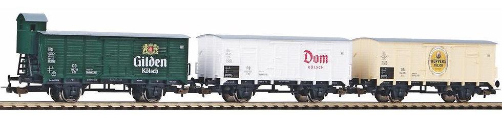 "Piko 58372, set vagones  tipo G10,  Bierwagen  ""Kölsch"", DB, época III"