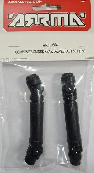 Arrma ARAC4043, Composite slider rear driveshaft set (1 par)