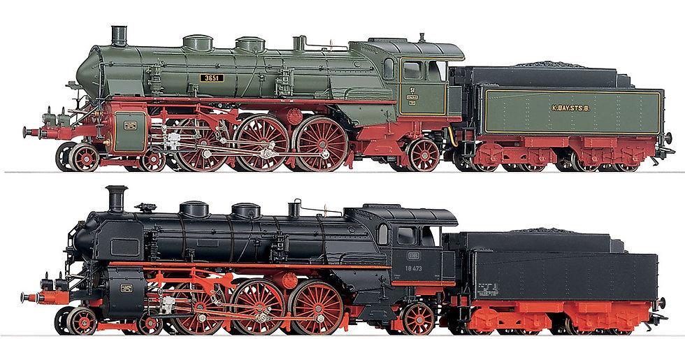 MÄRKLIN 37187. Set de 2 locomotoras serie S3/6 y BR18  [DIGITAL SIN SONIDO]