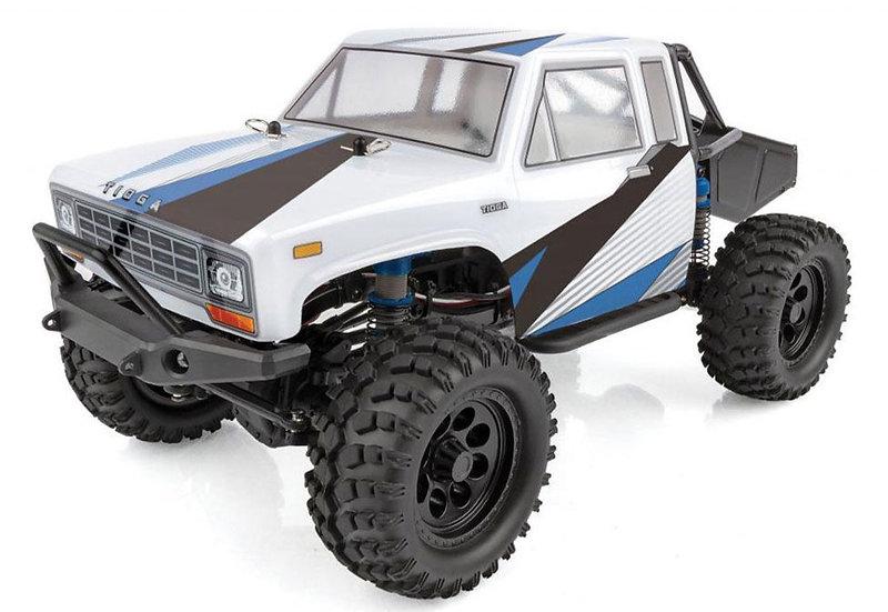 Team Associated ASC40006, CR12 Tioga Trail Truck RTR: blanco - azul
