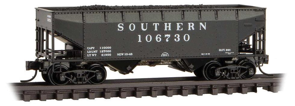 Micro Trains Line 5500590, Carro hopper 33' 2-Bay Offset-Side con carbón