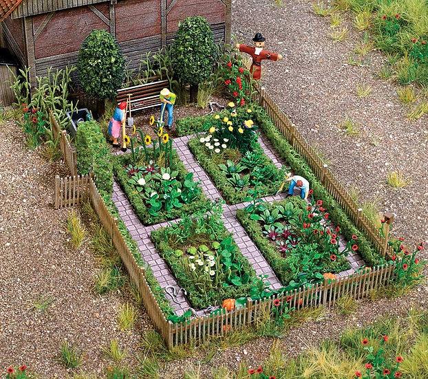 Busch 1254, Kit para armar granja / jardín (HO)