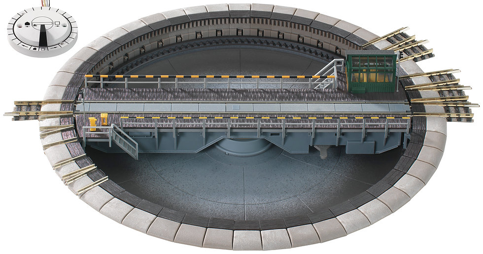 Fleischmann 665201, Electrically operated turntable for 3-rail AC system