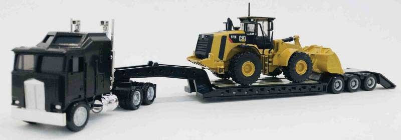 Herpa Promotex 6592 Kenworth K100 Tractor con cama baja y maquinaria