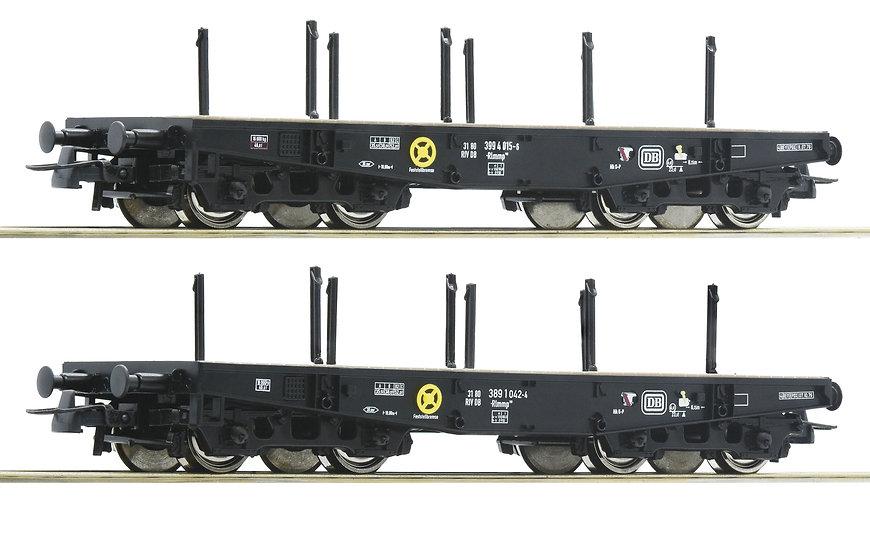 Roco 76080, Set de 2 vagones planos Heavy Duty, DB