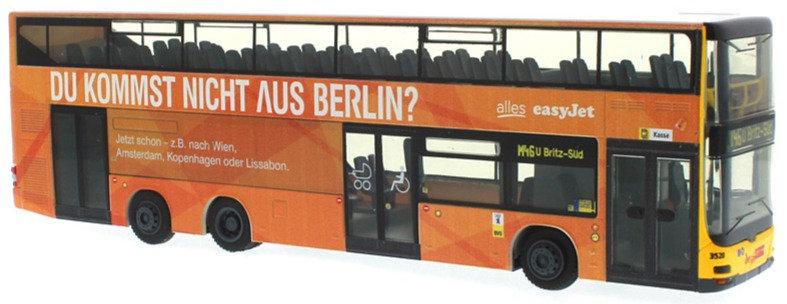 """Rietze 67781, MAN Lion's City DL07 """"BVG - easyJet"""""""